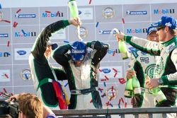 Podium LMPC : #36 Genoa Racing Oreca FLM09: Frankie Montecalvo, Christian Zugel,#99 Green Earth Team