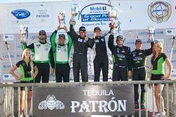 Podium GTC : #23 Alex Job Racing Porsche 911 GT3 Cup : Bill Sweedler, Romeo Kapudija, #54 Black Swan