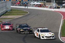 #69 SpeedSource Mazda RX-8: Emil Assentato, Jeff Segal, #70 SpeedSource Mazda RX-8: Jonathan Bomarit