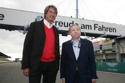 FIA President Jean Todt, gast van ADAC Nordrhein, met Hermann Tomczyk ADAC Sport president