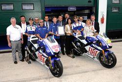 Présentation de la certification ISO 14001 : Jorge Lorenzo, Fiat Yamaha Team & Valentino Rossi, Fiat Yamaha Team