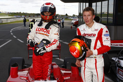 Sergey Afanasiev scored pole position for race 1 and is congratulated by second grid placed Kazim Va