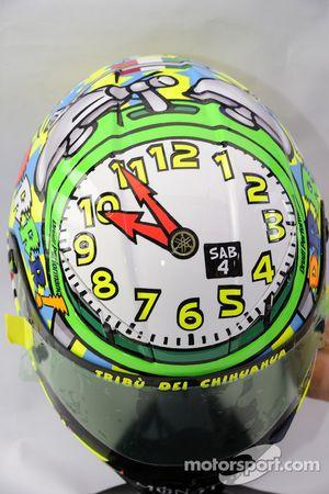 Un casque spécial pour Valentino Rossi, Fiat Yamaha Team
