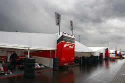Rain falls in the F2 paddock