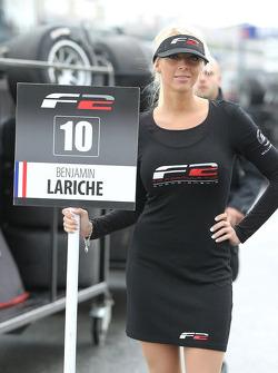 F2 pitspoes voor Benjamin Lariche