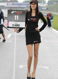 F2 grid girl for Jack Clarke