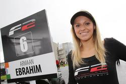 F2 grid girl for Armaan Ebrahim