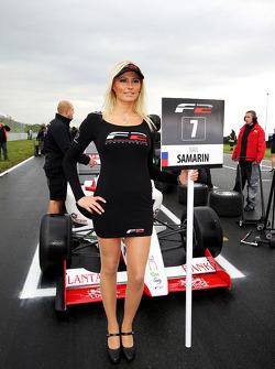F2 grid girl for Ivan Samarin