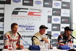 Qualifying press conference: pole winner Dean Stoneman, second place Nicola di Marco, third place Kazim Vasiliauskas