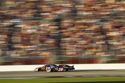 Kasey Kahne races Kyle Busch
