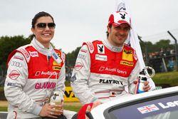 Katherine Legge, Audi Sport Team Rosberg, Audi A4 DTM et Markus Winkelhock, Audi Sport Team Rosberg,