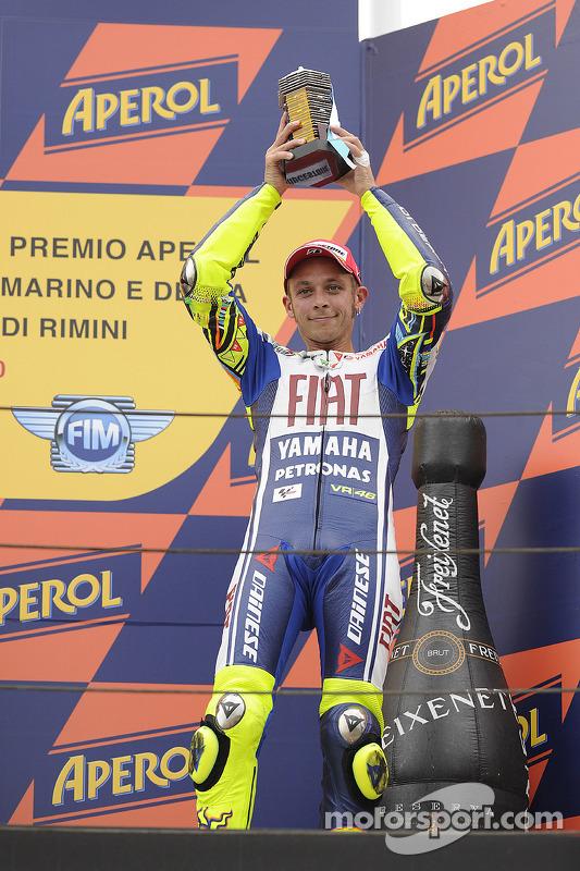 Podium: 3de Valentino Rossi, Fiat Yamaha Team