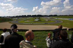 Fans watch the race