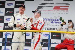 Podium: race winner Dean Stoneman, second place Vasilauskas, third place Sergey Afanasiev