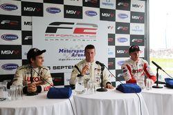 Press conference: race winner Dean Stoneman, second place Vasilauskas, third place Sergey Afanasiev