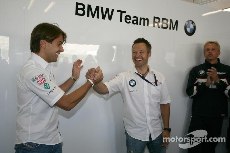 Augusto Farfus BMW Team RBM BMW 320si und Andy Priaulx BMW Team RBM BMW 320si