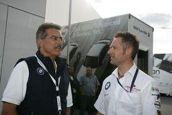 Dr. Mario Theissen with Andy Priaulx BMW Team RBM BMW 320si