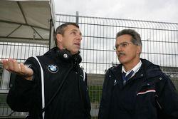 Bart Mampaey, directeur d'équipe, BMW Team RBM et Dr. Mario Theissen