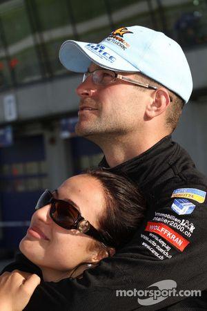 Fredy Barth Seat Swiss Racing by Sunred Seat Leon 2.0 TDI with his girlfriend