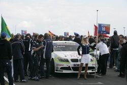 The Car of Augusto Farfus BMW Team RBM BMW 320si in the Startgrid