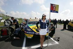 Grid girl of Tom Coronel SR-Sport Seat Leon 2.0 TDI