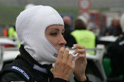 Cora Schumacher Wife of Ralf Schumacher drives MINI-Challenge