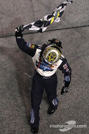 Race winner Jamie McMurray celebrates