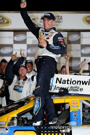 Victory lane: race winner Jamie McMurray