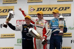 Race 1 Podium: 1st Gordon Shedden, 2nd Alex MacDowall, 3rd Steven Kane