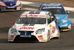 Tom Onslow-Cole leads Jason Plato and Andrew Jordan