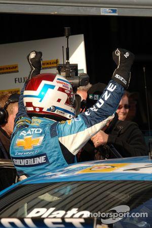 Jason Plato celebrates victory