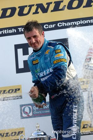 Jason Plato sprays champagne