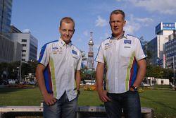 Mikko Hirvonen et Jarmo Lehtinen à Odori Park
