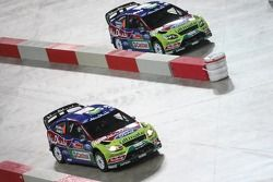 Jari-Matti Latvala et Miikka Anttila, Ford Focus RS WRC08, BP Ford Abu Dhabi World Rally Team, et Mi