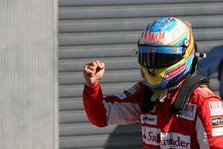 Ganador de la pole position Fernando Alonso, Scuderia Ferrari