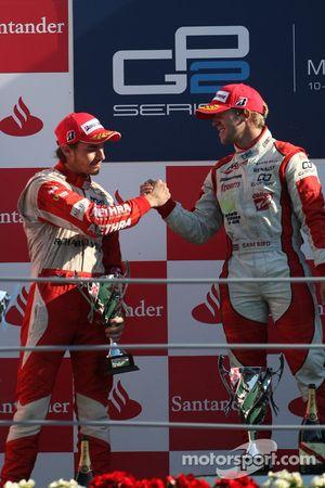 Sam Bird, vainqueur, et Jules Bianchi, deuxième