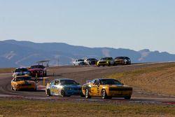 #5 TPN/Blackforest Racing Dodge Challenger: Ian James, Tom Nastasi, #13 Rum Bum Racing BMW M3 Coupe: