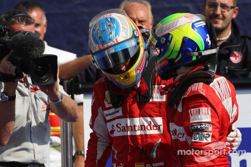 Compañero con el que más carreras ha disputado: Massa, con 77 grandes premios juntos