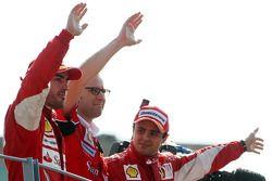 Podium: race winner Fernando Alonso, Scuderia Ferrari, third place Felipe Massa, Scuderia Ferrari