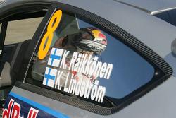 Trouble for Kimi Raikkonen and Kaj Lindstrom, Citroën C4 WRC, Citroën Junior Team