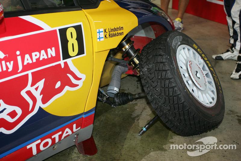 Problemen voor Kimi Raikkonen en Kaj Lindstrom, Citroën C4 WRC, Citroën Junior Team