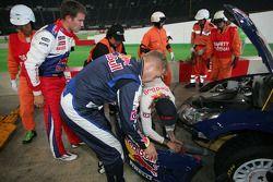 Des problèmes pour Kimi Räikkönen et Kaj Lindström, Citroën C4 WRC, Citroën Junior Team