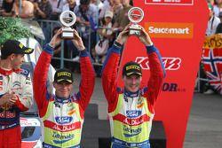 Podium: third place Jari-Matti Latvala and Miikka Anttila