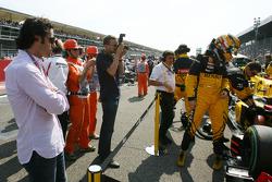 Robert Kubica, Renault F1 Team et Dario Franchitti, pilote Indycar