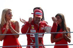 Podium: race winner Fernando Alonso, Scuderia Ferrari