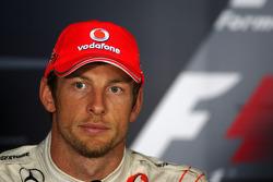 Post-race press conference: second place Jenson Button, McLaren Mercedes