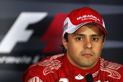 Post-race press conference: third place Felipe Massa, Scuderia Ferrari