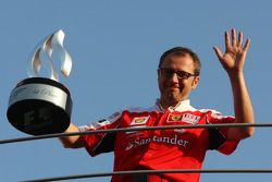 Celebración de equipo de Ferrari: Stefano Domenicali, Director General de Ferrari