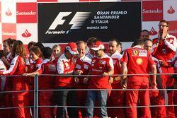 Celebración del equipo Ferrari