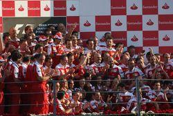 Ferrari team celebration